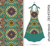 vector fashion illustration ...   Shutterstock .eps vector #281453906