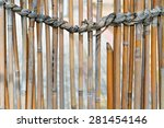 Bamboo Fence And A Strong Rope...