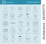 vector dental medicine thin... | Shutterstock .eps vector #281454773