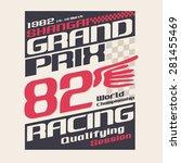 racing grand prix typography  t ... | Shutterstock .eps vector #281455469