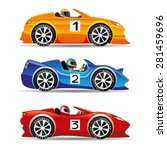 vector set. racing cars. | Shutterstock .eps vector #281459696