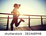healthy lifestyle sports woman... | Shutterstock . vector #281468948