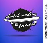 vector skateboarding emblem.... | Shutterstock .eps vector #281474816
