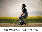bicycle rider | Shutterstock . vector #281475476