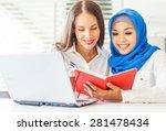 native speaker teaching a... | Shutterstock . vector #281478434