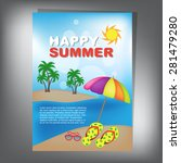 summer brochure | Shutterstock .eps vector #281479280