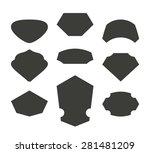 set of cool vector empty modern ... | Shutterstock .eps vector #281481209