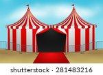 circus tent vector illustration ...   Shutterstock .eps vector #281483216