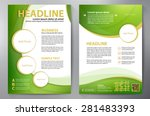 brochure design a4 template.... | Shutterstock .eps vector #281483393