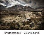 scottish highlands landscape.  | Shutterstock . vector #281485346