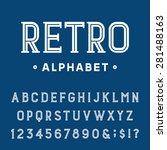 retro alphabet vector font.... | Shutterstock .eps vector #281488163