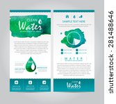 eco watercolor vector leaflet | Shutterstock .eps vector #281488646