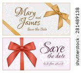 lacy vector wedding card... | Shutterstock .eps vector #281489138