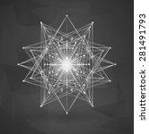 wireframe polygonal element.... | Shutterstock .eps vector #281491793
