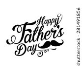 happy fathers day background | Shutterstock .eps vector #281491856