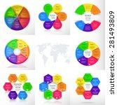vector infographics set.... | Shutterstock .eps vector #281493809