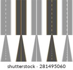 asphalt roads  with traffic... | Shutterstock .eps vector #281495060