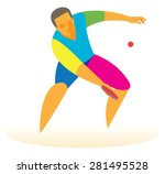 a professional table tennis... | Shutterstock .eps vector #281495528