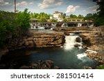 many small waterfalls cascade...