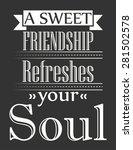retro motivational poster ... | Shutterstock .eps vector #281502578