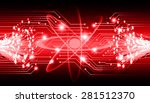 dark red color light abstract... | Shutterstock .eps vector #281512370