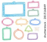 doodle frames set for your... | Shutterstock .eps vector #281516849