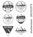 set if vintage rafting logo ... | Shutterstock . vector #281522573