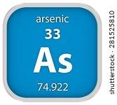 arsenic material on the... | Shutterstock . vector #281525810