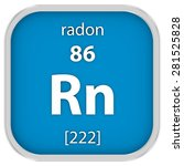 radon material on the periodic... | Shutterstock . vector #281525828