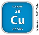copper material on the periodic ...   Shutterstock . vector #281525894