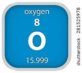 oxygen material on the periodic ... | Shutterstock . vector #281525978