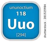 ununoctium material on the... | Shutterstock . vector #281525984
