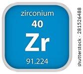 zirconium material on the... | Shutterstock . vector #281526488