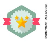 star rating flat icon with long ...