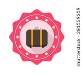 baggage flat icon with long...
