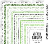 hand drawn decorative vector... | Shutterstock .eps vector #281529530