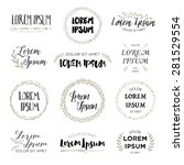 set of hand drawn logo... | Shutterstock .eps vector #281529554