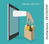 online grocery ordering ... | Shutterstock .eps vector #281532539