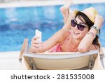 portrait of beautiful young... | Shutterstock . vector #281535008