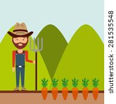 farm concept design  vector... | Shutterstock .eps vector #281535548