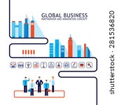 teamwork partnership concept... | Shutterstock .eps vector #281536820