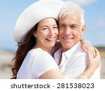 happy couple together on the... | Shutterstock . vector #281538023