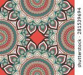 seamless patterns. vintage... | Shutterstock .eps vector #281539694