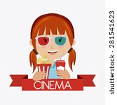cinema design over white... | Shutterstock .eps vector #281541623