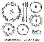 hand drawn vintage ampersand ... | Shutterstock .eps vector #281545109