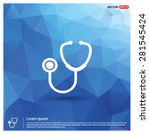 stethoscope icon   abstract... | Shutterstock .eps vector #281545424