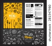 cafe menu restaurant brochure.... | Shutterstock .eps vector #281547980