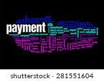 payment word on cloud concept... | Shutterstock . vector #281551604
