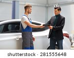 customer looking at the service ... | Shutterstock . vector #281555648