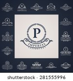 luxury vintage logo set.... | Shutterstock .eps vector #281555996
